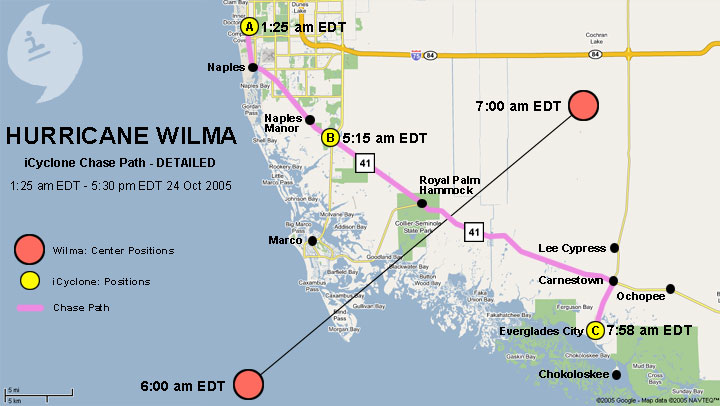 Wilma Chase Map